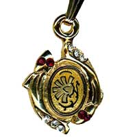 Damascene Gold Pisces the Fish Zodiac Pendant on Chain Necklace by Midas of Toledo Spain style 5417